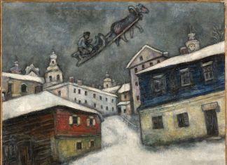 Marc Chagall, Russian village, 1929. Collezione privata, Svizzera © Chagall®, by SIAE 2018