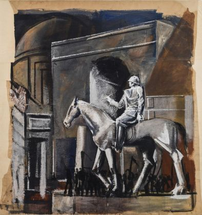 Mario Sironi, Condottiero a cavallo, 1934-35. Archivio Mario Sironi di Romana Sironi
