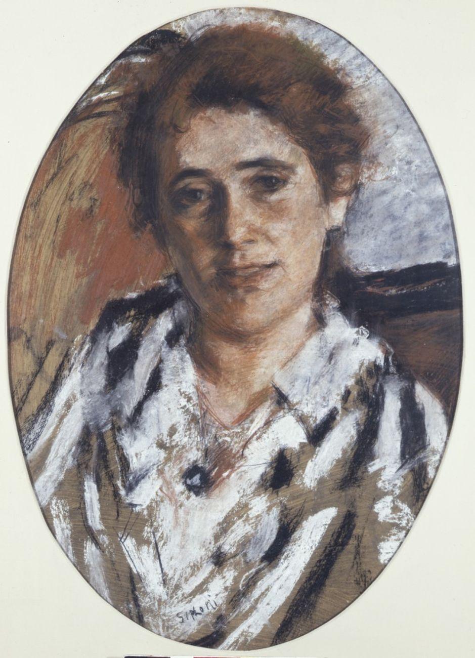 Mario Sironi, Ritratto di Margherita Sarfatti, 1916-17. Collezione privata, Roma