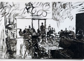 Merlin Carpenter, Tate Café 7, 2011. Courtesy Simon Lee Gallery, Londra Hong Kong