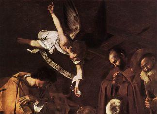 Michelangelo Merisi da Caravaggio, Natività con i Santi Lorenzo e Francesco d'Assisi, 1600, olio su tela