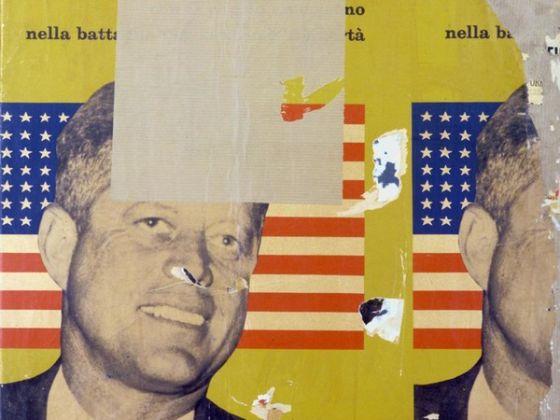 Mimmo Rotella, Viva America, Dècollage, cm 85x89