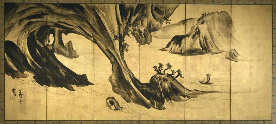 Nagasawa Rosetsu, Paesaggio con figure cinesi, 1795-99. The Metropolitan Museum of Art, New York