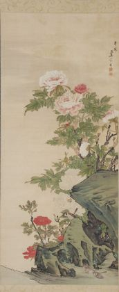 Nagasawa Rosetsu, Peonie e passeri, 1786. Muryōji, Kushimoto
