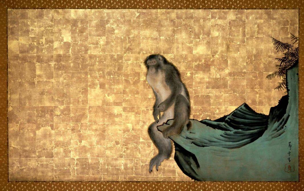 Nagasawa Rosetsu, Scimmia su una roccia, 1792-94 ca. Collezione privata, Giappone