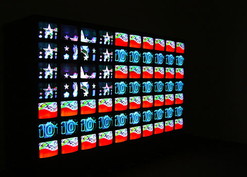 Nam June Paik American flag 1985 96