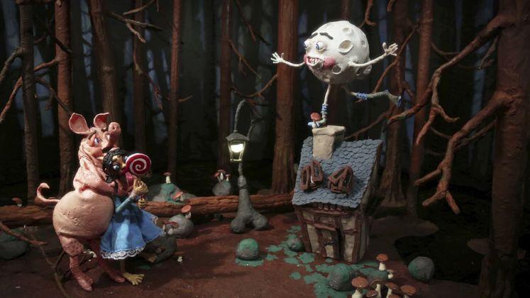 Nathalie Djurberg & Hans Berg, Dark Side of the Moon, 2017, still from stop motion animation © Nathalie Djurberg & Hans Berg Bildupphovsrätt 2018