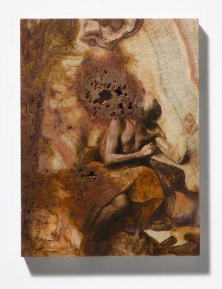 Nicola Samorì, Il coltello, 2018. Courtesy Galerie EIGEN + ART, Lipsia Berlino