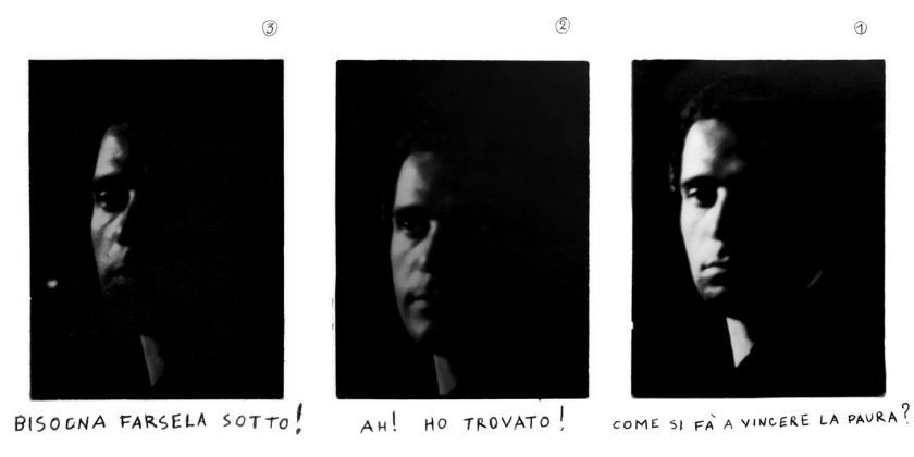 Pino Pascali, Autoritratto in tre parti, 1968. Collezione privata, Bari
