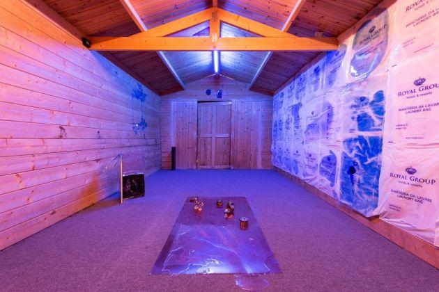 Raffaela Naldi Rossano, A liquid walk of consciousness, 2018. Installation view at Museo Apparente, Napoli 2018