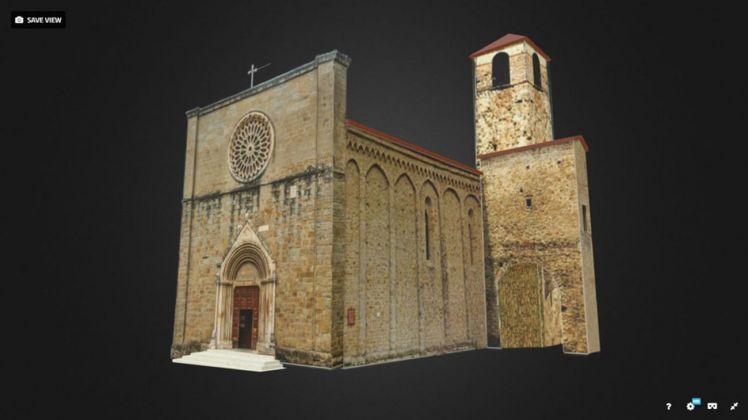 Ricostruzione Chiesa Sant'Agostino ad Amatrice. Courtesy NUME