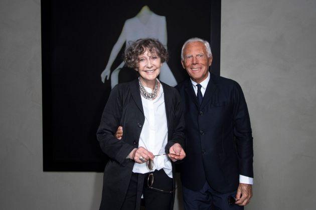Sarah Moon & Giorgio Armani at Armani Silos, Milano 2018. Photo credit SGP
