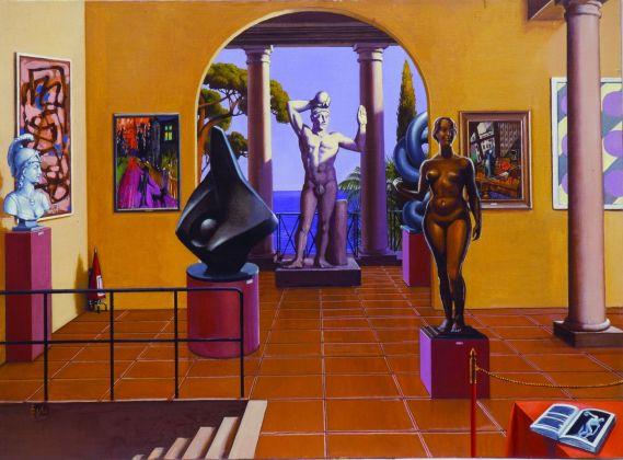 Sergio Ceccotti, Musée imaginaire II, 1986. Collezione Ovidio Jacorossi, Roma. Photo Riccardo Ragazzi
