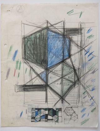 Studio per la copertina di Amate l'Architettura, una raccolta di scritti di Ponti pubblicata nel 1957 © Gio Ponti Archives