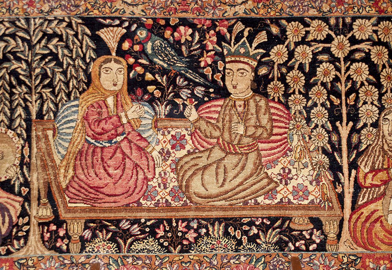 Tappeto Kirman reale Manifattura persiana, prima metà del XIX secolo (particolare). Collezione Intesa Sanpaolo