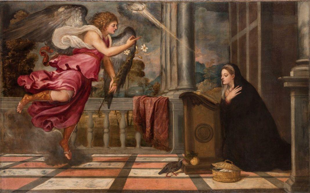 Tiziano Vecellio, Annunciazione, 1539 ca. Venezia, Scuola Grande Arciconfraternita di San Rocco