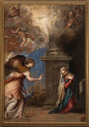 Tiziano Vecellio, Annunciazione, 1558-59. Museo nazionale di Capodimonte, Napoli. Photo L. Romano