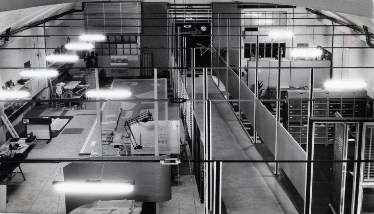 Una veduta dall'alto dello studio in via Dezza 49 © Gio Ponti Archives