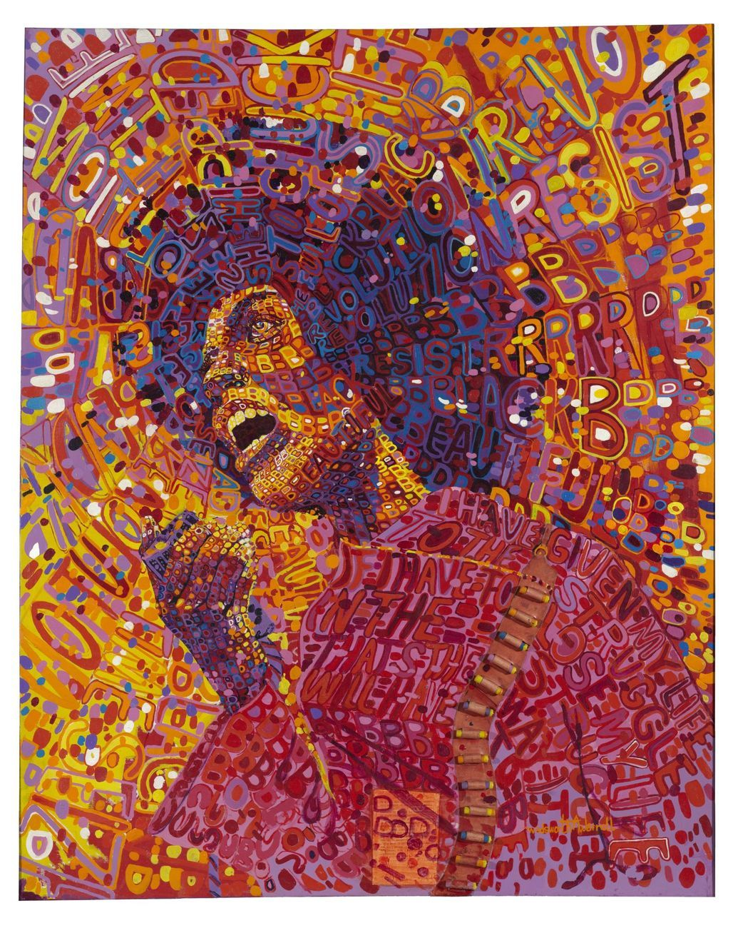 Wadsworth A. Jarrell, Revolutionary (Angela Davis), 1971. Brooklyn Museum © artist or artist's estate