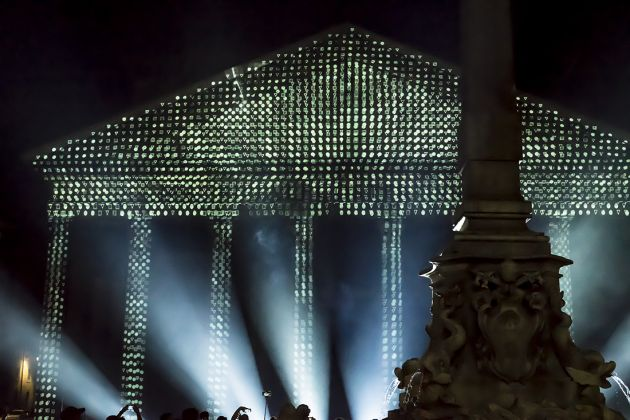 Pantheon, videomapping di Soldi Light Festival. Ph. Lucilla Ioiotile
