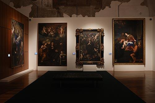 R Rosalia – eris in este patrona, foto dell'allestimento. Palermo, Palazzo dei Normanni