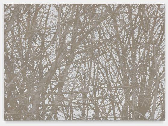 Fuori Registro (Sparkling forest 1), 2018, acrilico su tela, cm. 100x150. Courtesy Totah, NY. Fotografie di Alex Yudzon
