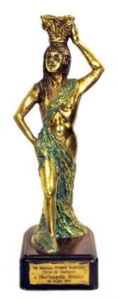 Egidio Ambrosetti, Premio Barocco, bronzo patinato, legno, 30,2×12,8×12,2 cm, 29 Giugno 2001, Casa Melato ai Coronari, Roma. ©Matteo Smolizza