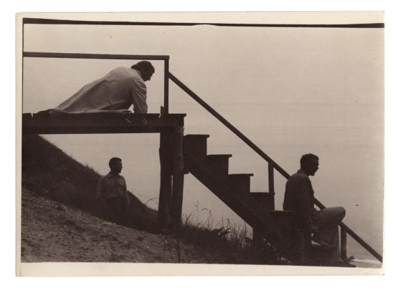 PaJaMa, Margaret French, George Tooker and Jared French, Nantucket, c.1946. Collection Jack Shear Image courtesy of Gitterman Gallery, New York