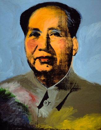Andy Warhol (1928–1987),Mao, 1972. Acrylic, silkscreen ink, and graphite on linen, 4.48 x 3.47 m. The Art Institute of Chicago; Mr. and Mrs. Frank G. Logan Purchase Prize and Wilson L. Mead funds, 1974.230 © The Andy Warhol Foundation for the Visual Arts, Inc. / Artists Rights Society (ARS) New York