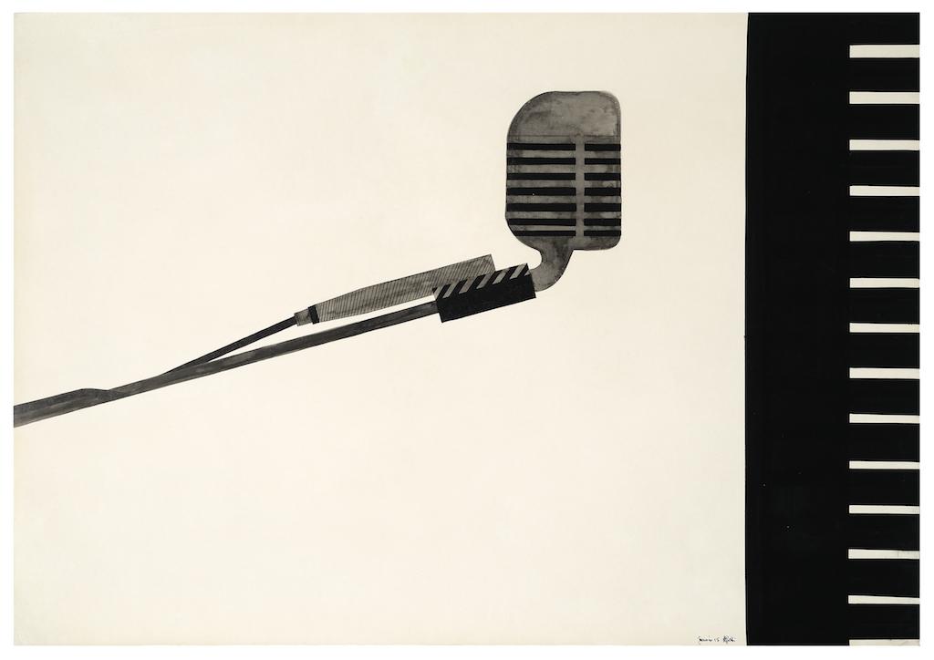 1656 Alighiero Boetti Senza titolo, 1965 China e china acquerellata su carta, 79.9 x 99.9 cm Collezione Ramo