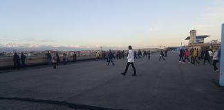 Hamish Fulton, walking tour in occasione di Artissima 2018, Torino