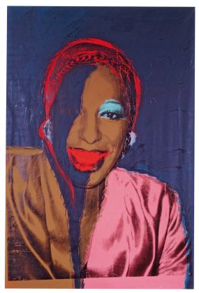 Andy Warhol (1928–1987), Ladies and Gentlemen (Wilhelmina Ross), 1975. Acrylic and silkscreen ink on linen, 304.8 x 203.2 cm. Fondation Louis Vuitton, Paris © The Andy Warhol Foundation for the Visual Arts, Inc. / Artists Rights Society (ARS) New York