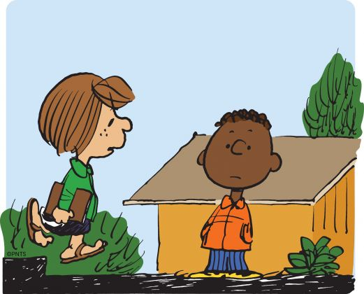 Franklin and Peppermint Patty (c) Peanuts