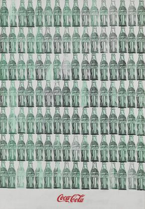 Andy Warhol (1928-1987), Green Coca-Cola Bottles, 1962. Acrylic, screenprint, and graphite pencil on canvas, 210.2 x 145.1 cm. Whitney Museum of American Art, New York; purchase with funds from the Friends of the Whitney Museum of American Art 68.25. © 2018 The Andy Warhol Foundation for the visual Arts, Inc./ Artists Rights Society (ARS), N.Y.