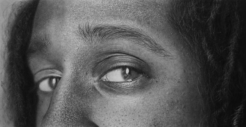 Kelvin Okafor, Eyes of Simon, 2013, Pencil on A4 archival paper © Kelvin Okafor