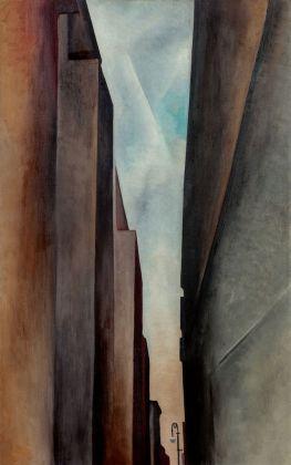 Georgia O'Keeffe, A Street, 1926. Courtesy Sotheby's