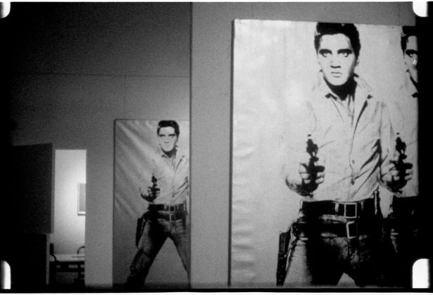 Andy Warhol (1928–1987), Elvis at Ferus, 1963. 16mm, b&w, silent; 4.0 min. @ 16 fps, 3.5 min. @ 18 fps © 2018 The Andy Warhol Museum, Pittsburgh, PA, a museum of Carnegie Institute. All rights reserved