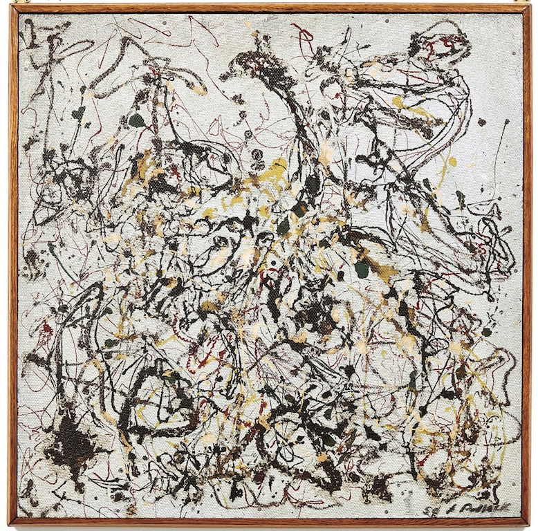 Jackson Pollock, Number 16 (1950). Image Courtesy Phillips