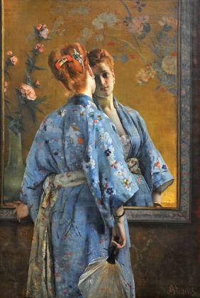 Alfred Stevens, La parisienne japonaise, 1872 © Musée des Beaux-Arts de La Boverie, Lüttich