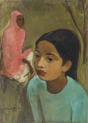 Amrita Sher Gil Little Girl in Blue 1934 @Sotheby's
