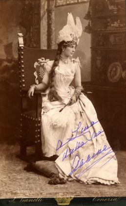 Annina Morosini con dedica a Carolina_archivio Bagatti Valsecchi