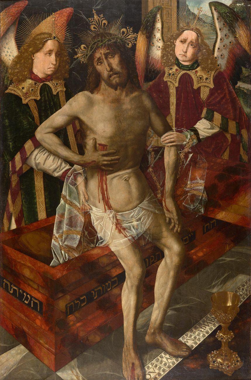 Bartolomé Bermejo, Cristo de la Piedad, 1470-75. Museo del Castillo de Peralada