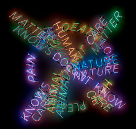 Bruce Nauman, Human Nature_Life Death_Knows Doesn't Know, 1983. Los Angeles County Museum of Art © 2018 Bruce Nauman_Artists Rights Society (ARS), New York. Photo © Museum Associates_LACMA
