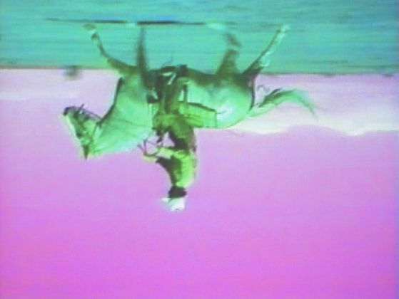 Bruce Nauman. Green Horses, 1988, still da videoinstallazione © 2018 Bruce Nauman_Artists Rights Society (ARS), New York. Photo Ron Amstutz