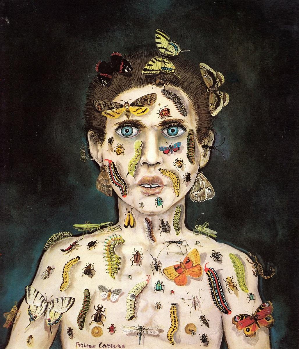 Bruno Caruso, Incantatore di insetti, 1985, olio su tavola, 35 x 40 cm