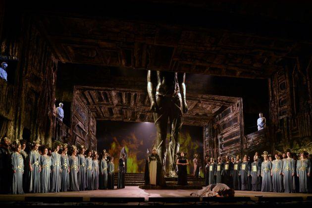 Camille Saint Saëns, Samson et Dalila, regia Jean Louis Grinda. Opéra di Montecarlo, 2018. Photo © 2018 Alain Hanel OMC