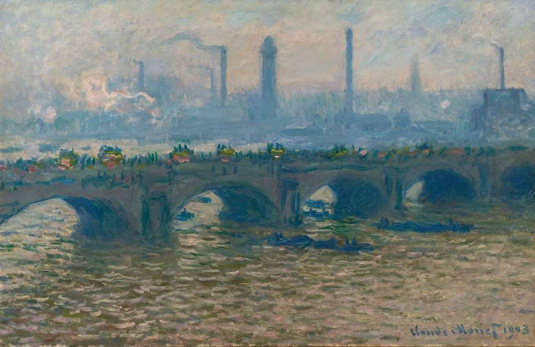Claude Monet, Il ponte di Waterloo, nuvoloso, 1903. Ordrupgaard, Copenhagen © Ordrupgaard, Copenhagen. Photo Anders Sune Berg. Courtesy Palazzo Zabarella