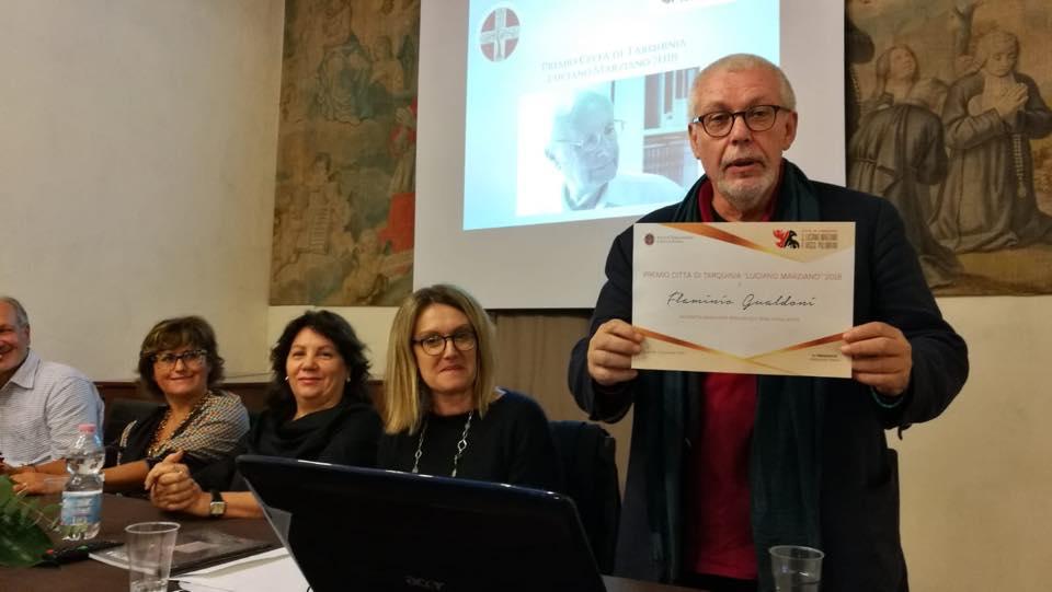 Daniela Muratti, Mariastella Margozzi, Claudia Casali, e Flaminio Gualdoni durante la premiazione