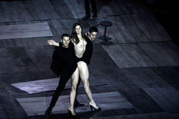 Dimitris Papaioannou, The Great Tamer. Photo Julian Mommert. Performers Ektor Liatsos + Ioannis Michos + Evangelia Randou