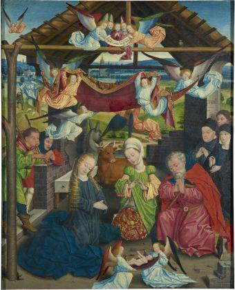 Dirk Baegert, Birth of Christ with donors, c. 1480. Münster, LWL Museum für Kunst und Kultur (Westfälisches Landesmuseum) Sabine Ahlbrand Dornseif